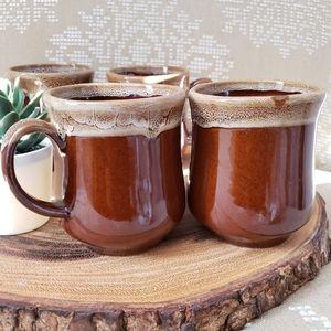 Vintage Drip Glazed Mugs